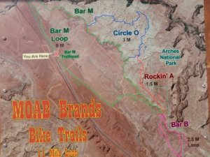 Moab Brands Trail Map