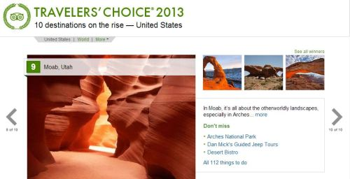 Trip Advisor Posts the 2013 Ten Destination on the Rise in the United States